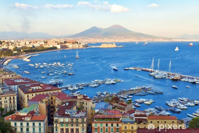 Fotomural Estándar Vista de la bahía de Nápoles - iStaging