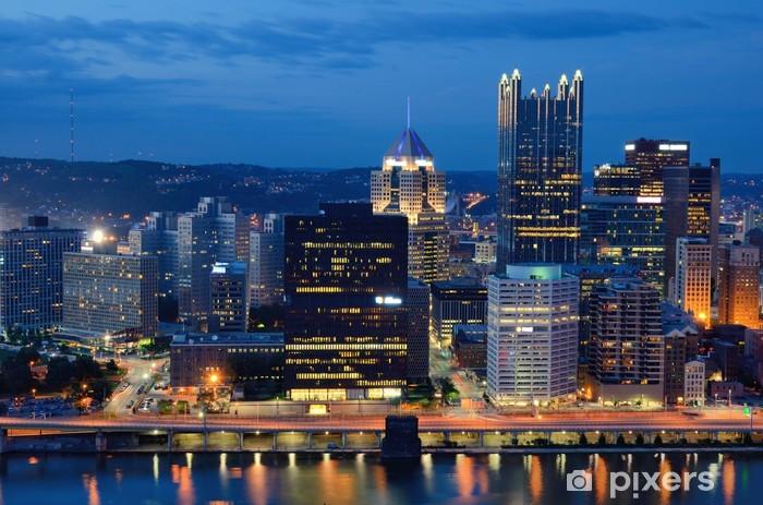 Vinyl Fotobehang Pittsburgh horizon - Amerika