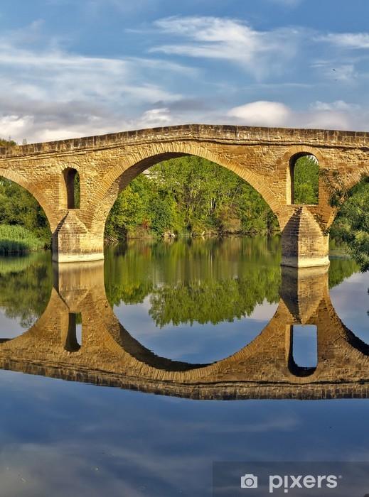 Vinyl Fotobehang Brug Puente la Reina, Navarra Spanje - Infrastructuur