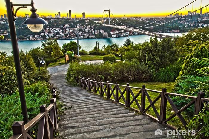 Pixerstick Sticker HDR Bosporus met Fatih Sultan Mehmet Bridge - Onderweg