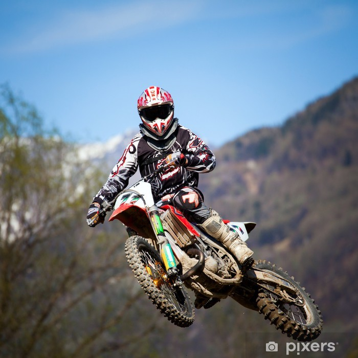 free style motocross Pixerstick Sticker - Extreme Sports