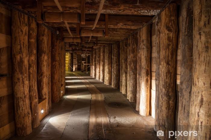 Papier peint vinyle Couloir souterrain dans la mine de sel de Wieliczka, en Pologne. - Thèmes