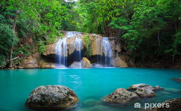 Papier Peint Autocollant Erawan Waterfall, Kanchanaburi, Thaïlande - Thèmes