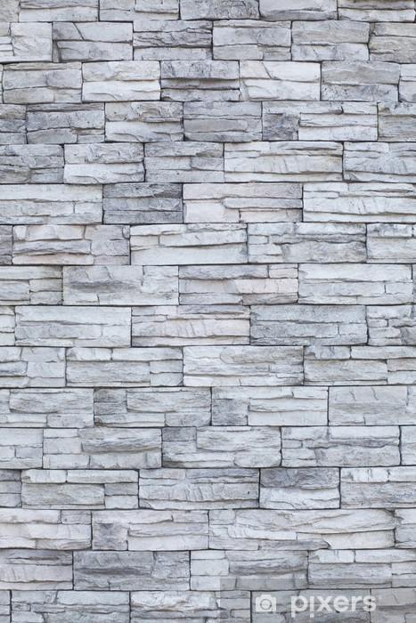 cf966ab2c Fototapet av vinyl Tynn stein mur