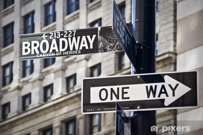 Vinyl Fotobehang Ganneau Broadway à New-York - Thema's