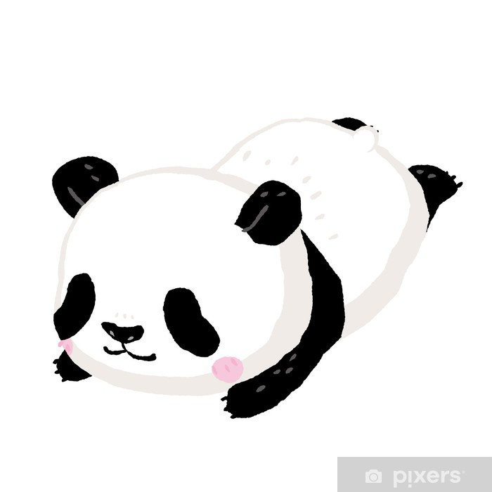 Sticker Pixerstick Panda - Mammifères