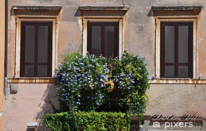 fototapete balkon mit blumen pixers wir leben um zu ver ndern. Black Bedroom Furniture Sets. Home Design Ideas