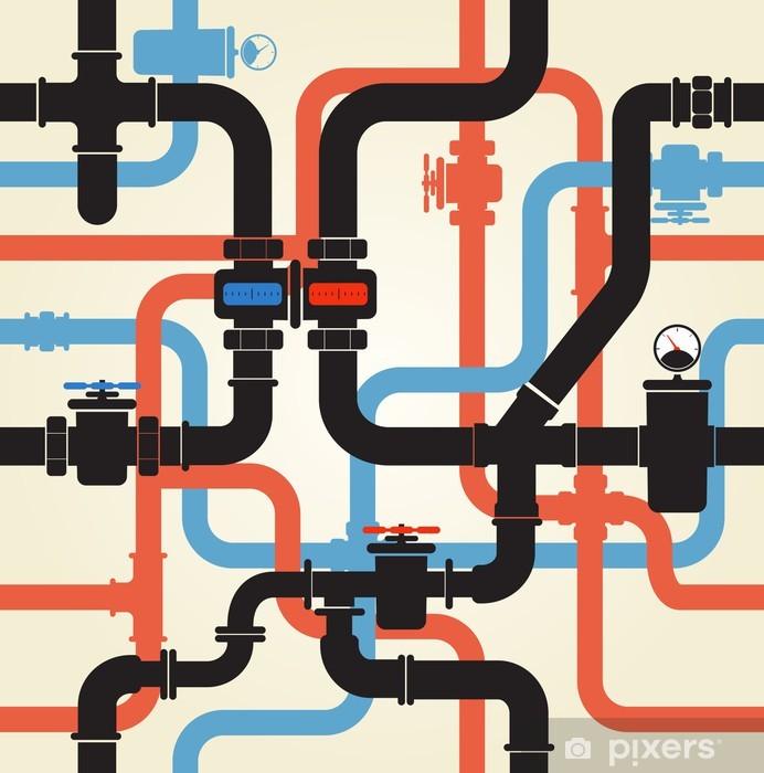 Sticker Pixerstick Seamless des canalisations d'eau - Destin