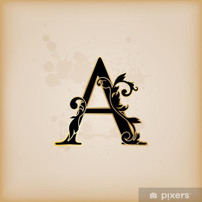 Pixerstick Sticker Vintage initialen letter a - Thema's
