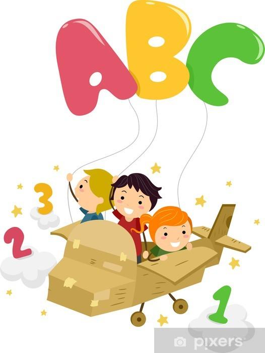 Papier peint vinyle Alphabet Stickman - Education