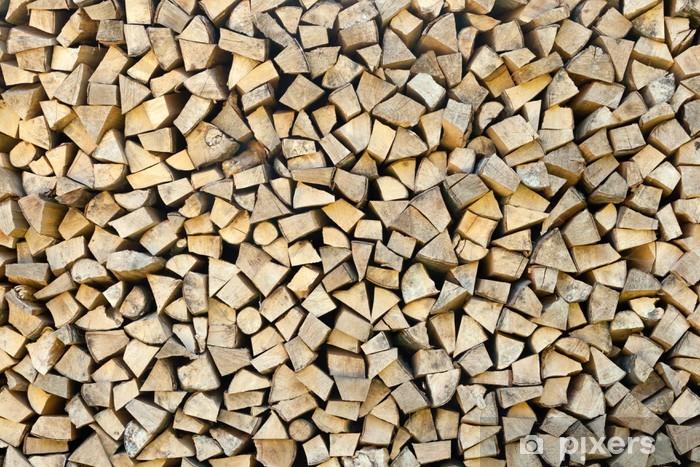 Fototapeta winylowa Drewno opałowe - Tekstury