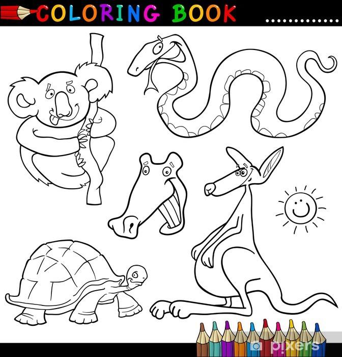 Boyama Kitabı Veya Page Hayvanlar Duvar Resmi Pixers Haydi
