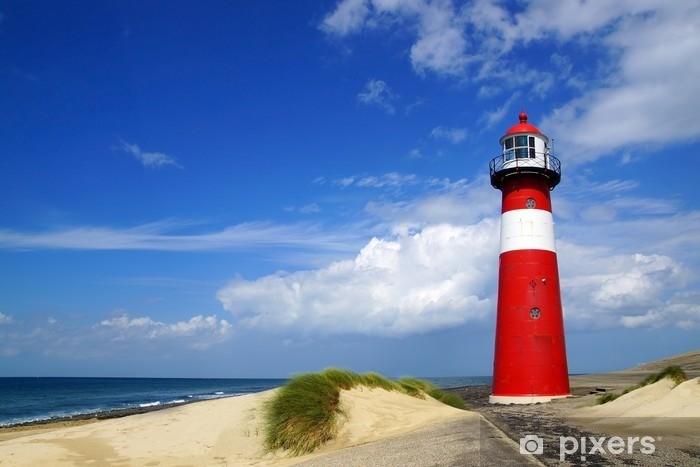 Sticker Pixerstick Lighthouse. Westkapelle, Pays-Bas - Phare
