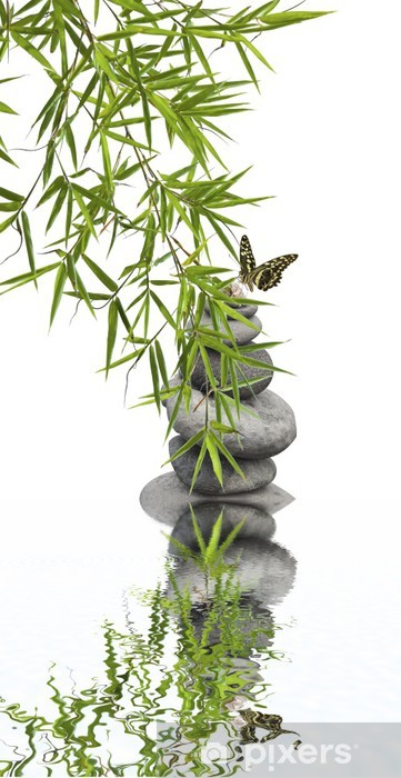 Pixerstick Sticker Begrip natuur ontspanning, welzijn - Planten