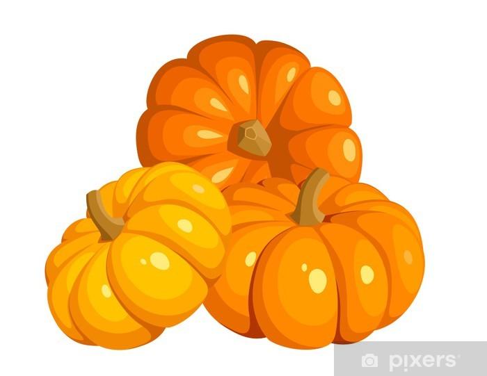Carta da Parati in Vinile Illustrazione vettoriale di tre zucche arancioni 98bb744a0e65