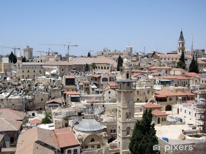 Papier peint vinyle Vieille Ville de Jérusalem - Paysages urbains