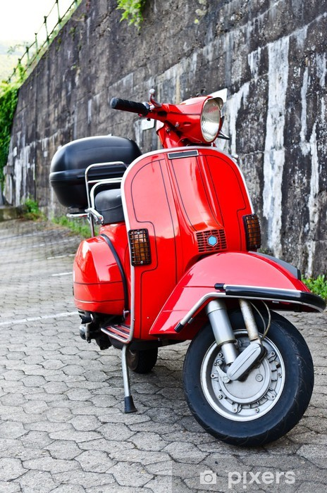 Italian scooter Vinyl Wall Mural - On the Road