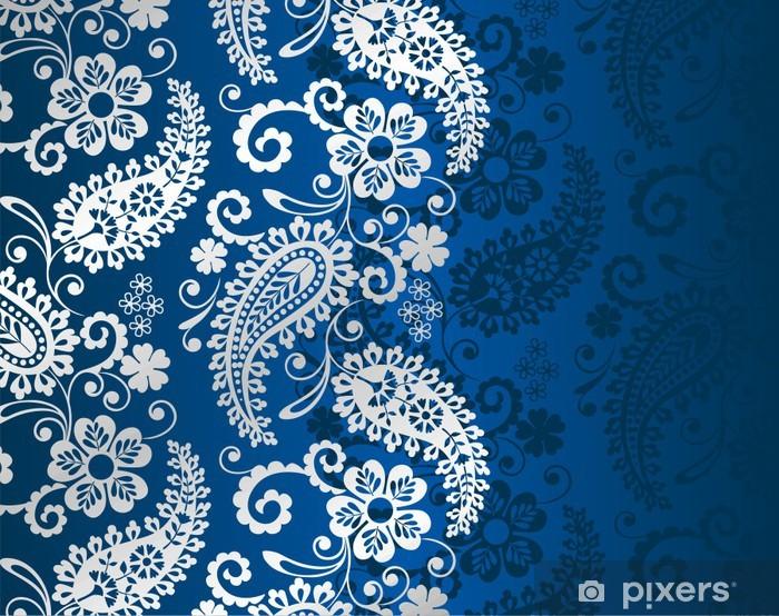 paisley floral pattern, textile , Rajasthan, royal India Vinyl Wall Mural - Styles
