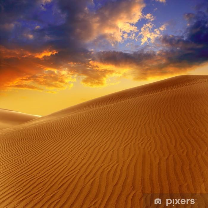 Desert sand dunes in Maspalomas Gran Canaria Vinyl Wall Mural - Themes