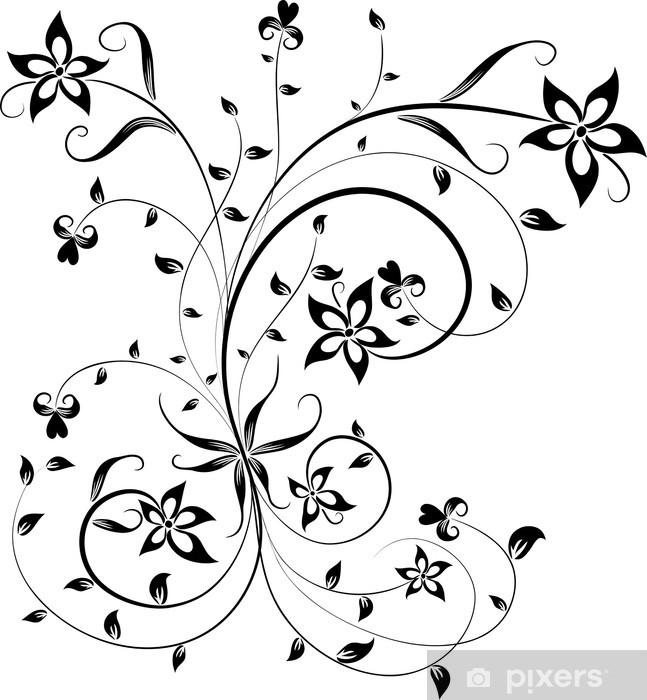 naklejka na szyb i okno kwiatowy element projektu wektor pixers HG Element naklejka na szyb i okno kwiatowy element projektu wektor