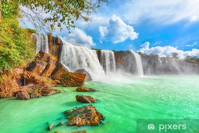 Dry Nur waterfall Pixerstick Sticker - Themes
