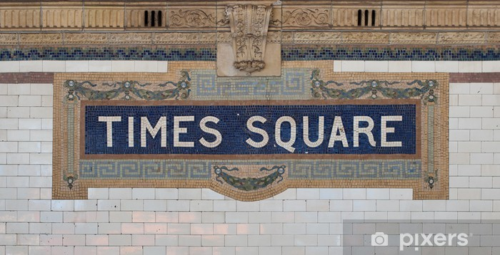 Times Square - New York city subway sign tile pattern Vinyl Wall Mural - American Cities