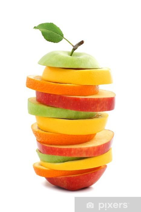 Papier peint vinyle Les mélanges de fruits pomme d'orange citron -