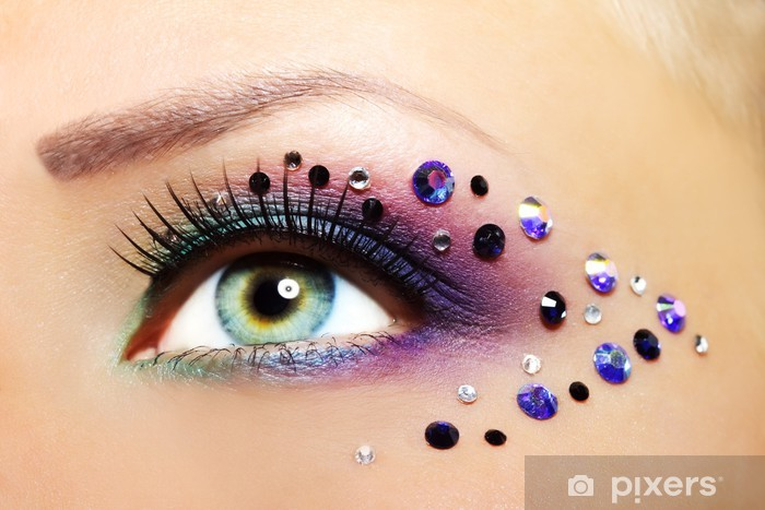 Vinyl Fotobehang Mooie Eye Make-up - Thema's