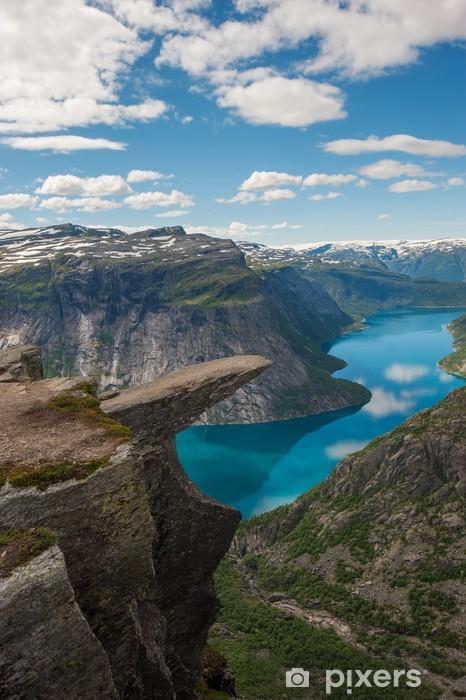 Fototapete Trolltunga Troll Zunge Felsen Norwegen