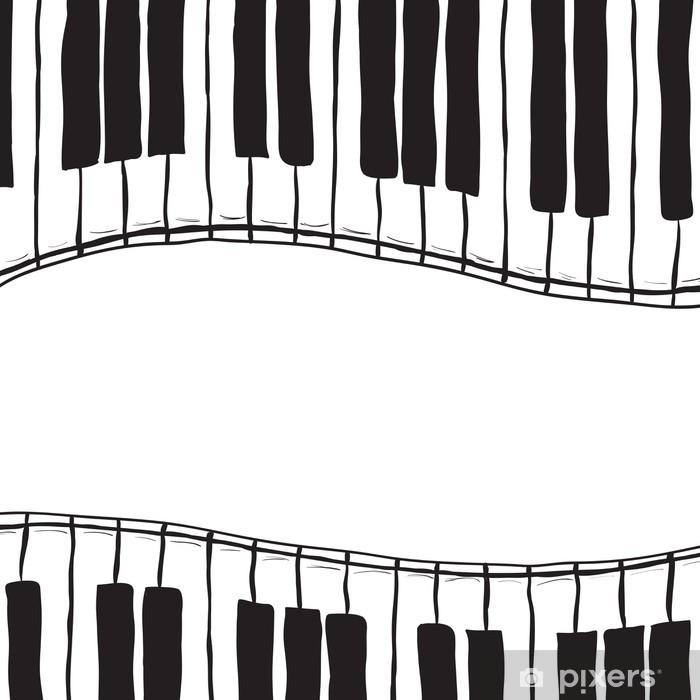 Naklejka Pixerstick Two piano keys - sketch style - Muzyka