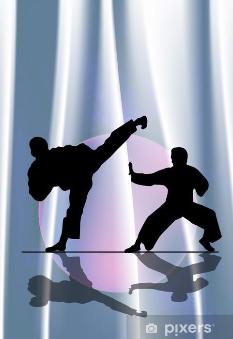 Karate illustration Pixerstick Sticker - Themes