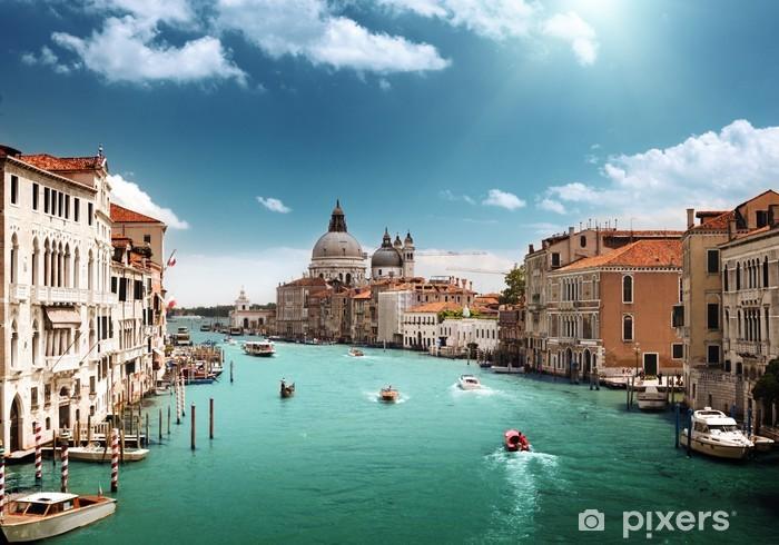 Naklejka Pixerstick Canal Grande i Bazylika Santa Maria zdrowia, Wenecja, Włochy - Tematy