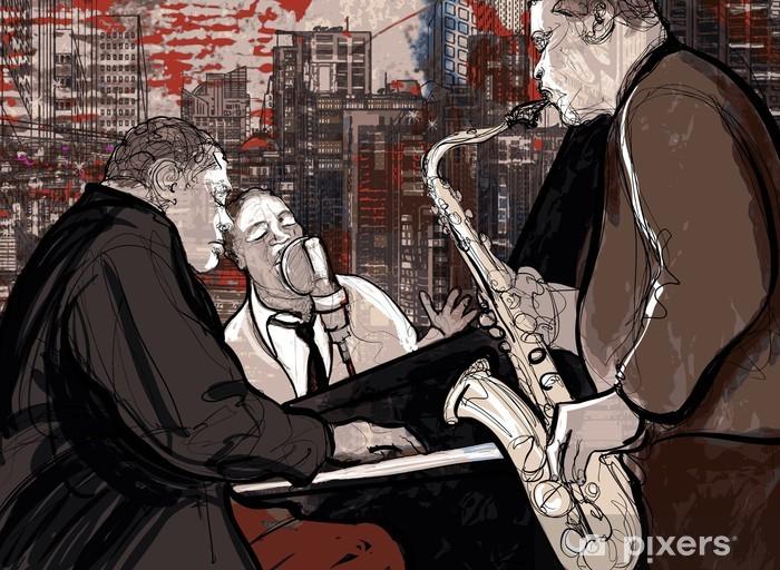 Vinyl Fotobehang Jazzband - jazz