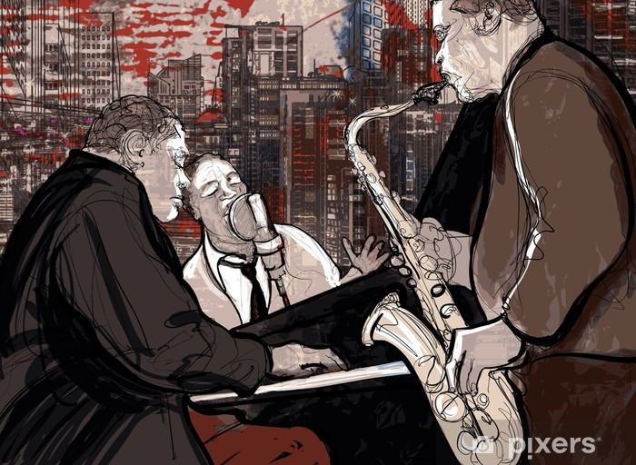 Fotomural Estándar Jazz band - Jazz