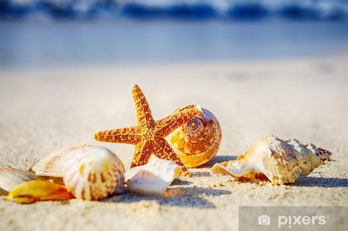 Papier peint vinyle Starfish on the beach - Vacances