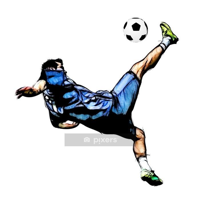 Vinilo para Pared Futbolista ilustración - Deportes de equipo
