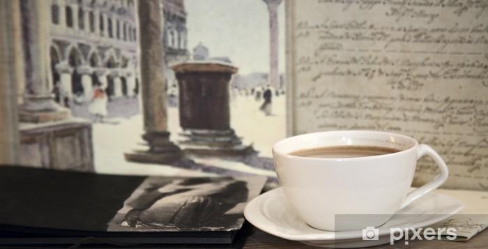 Vinylová fototapeta Přestávka na kávu - Vinylová fototapeta