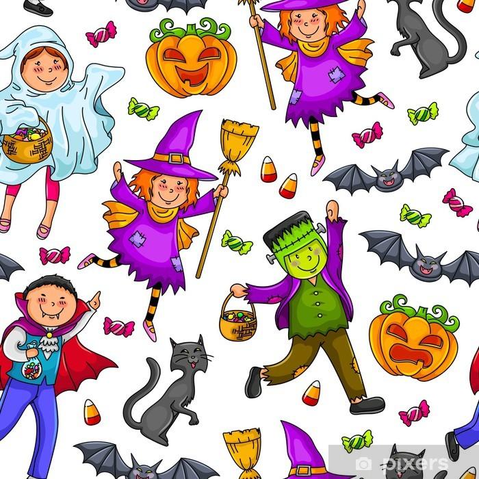 Vinyl Fotobehang Naadloze patroon voor Halloween. - Internationale Vieringen