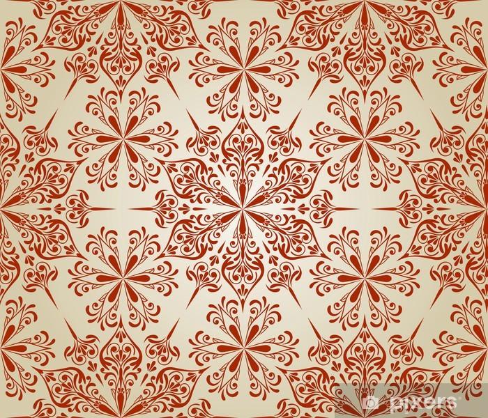 Plakat Wektor powtarzalne kwiatowy wzór - Tła