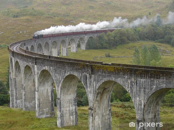 Carta da Parati in Vinile Treno sul Glenfinnan viadotto. Scozia. - Temi