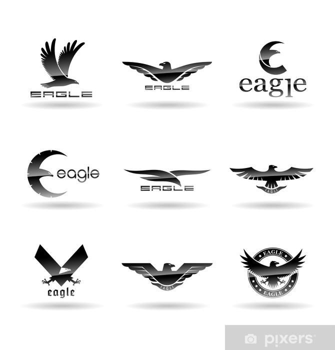 Nálepka Pixerstick Siluety Eagle Flight 3. - Značky a symboly