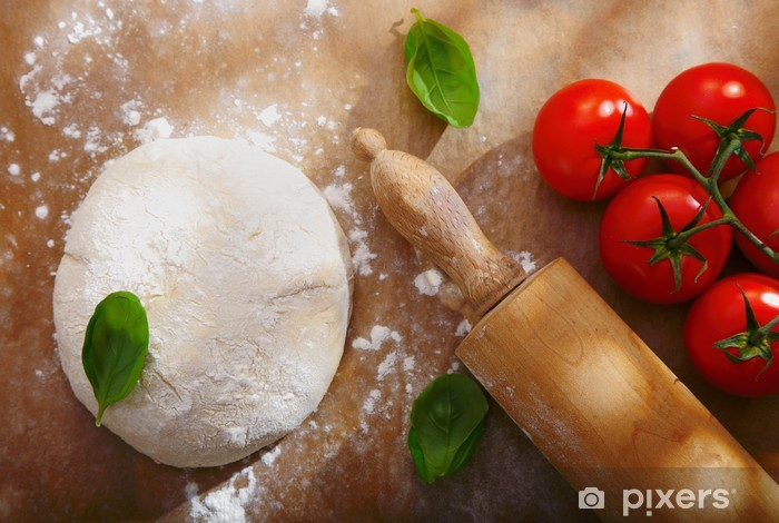 Ingredients for homemade pizza Vinyl Wall Mural - Themes