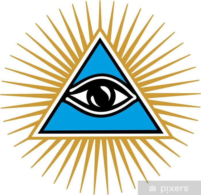 Naklejka Pixerstick Wszystko oko Boga - symbol wiedzy i wszechwiedzy - Znaki i symbole
