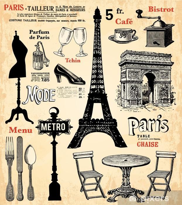 Naklejka Pixerstick Paryż - Style