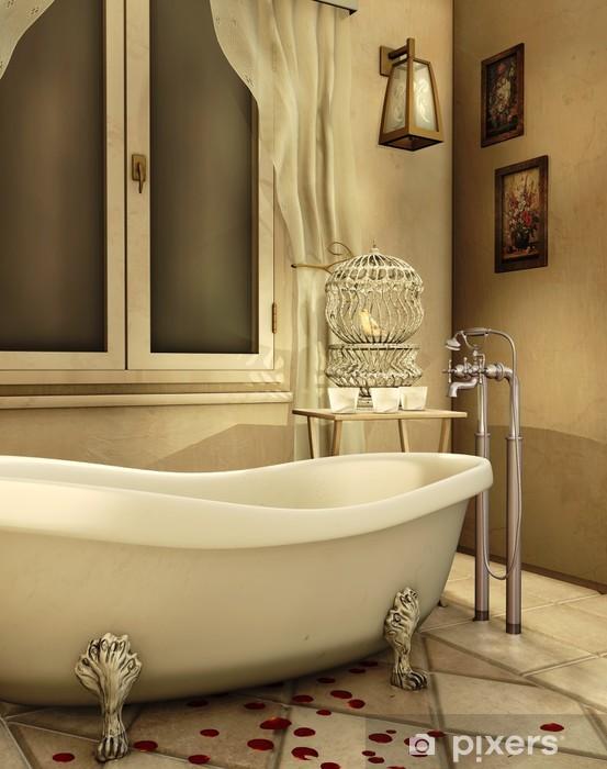 Fototapete Retro Badezimmer • Pixers® - Wir leben, um zu verändern