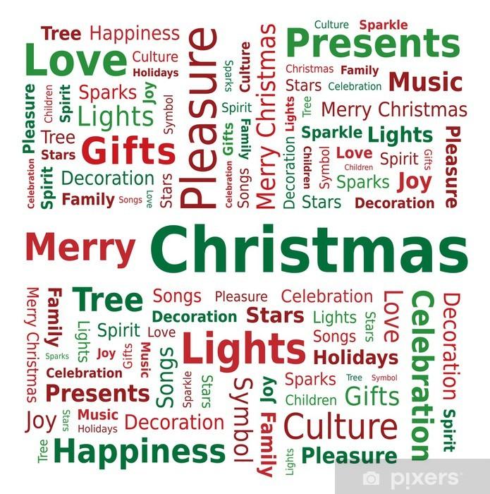 Buon Natale In Inglese.Carta Da Parati Word Cloud Buon Natale In Lingua Inglese Pixers