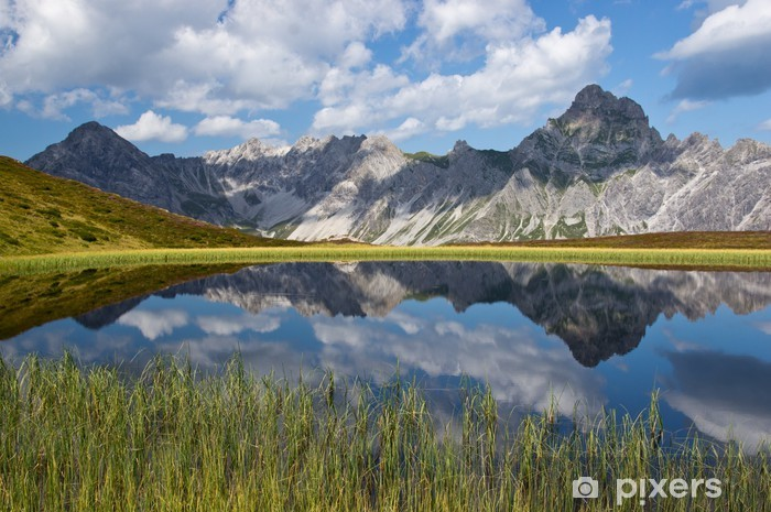Vinyl Fotobehang Bergsee in den Alpen - Europa