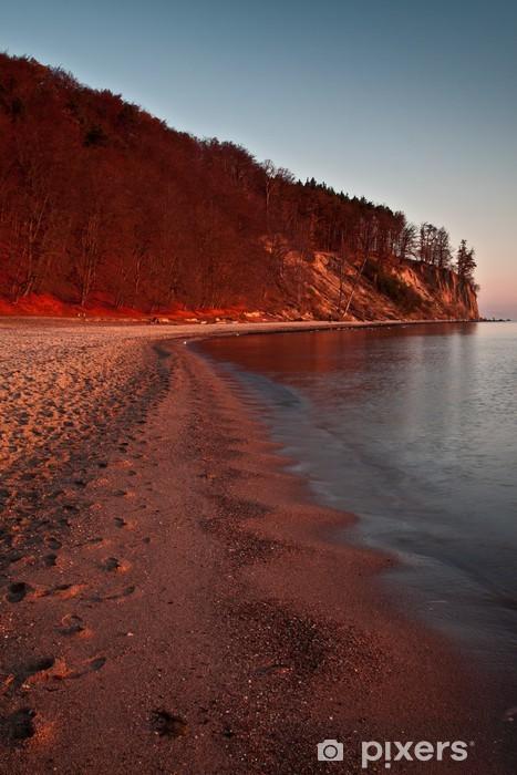 Autumn by the Sea, autumn landscape Pixerstick Sticker - Holidays