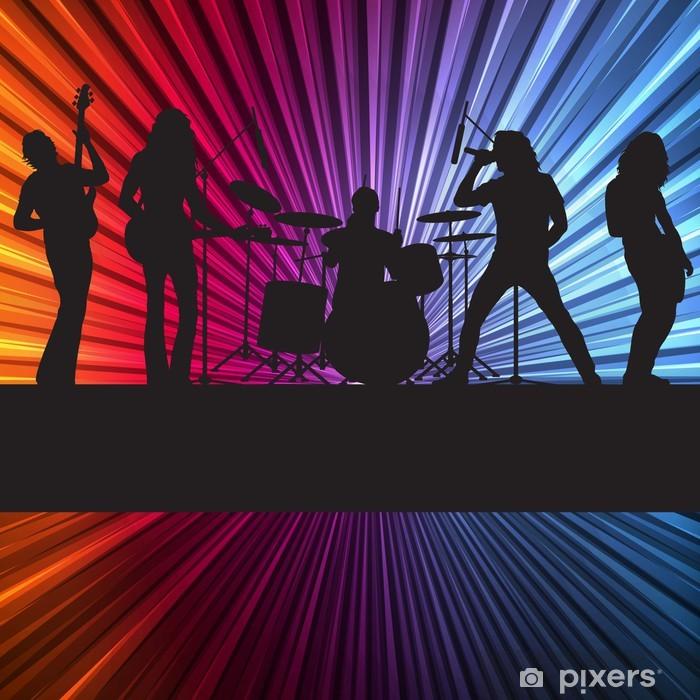 Fototapeta winylowa Rock Band background z neonów - Inne uczucia