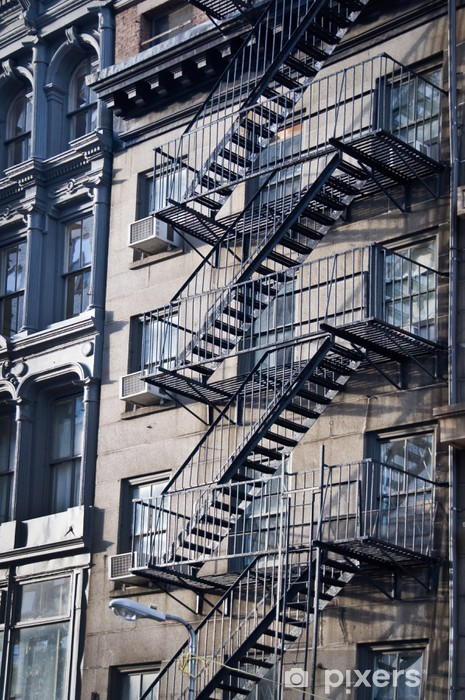 sticker fa ade avec escalier de secours new york pixers nous vivons pour changer. Black Bedroom Furniture Sets. Home Design Ideas